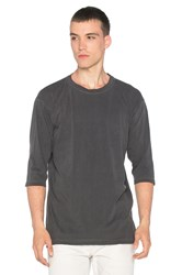 John Elliott Oversized 3 4 Sleeve Tee Charcoal