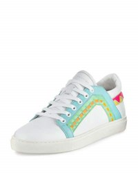Sophia Webster Riko Leather Low Top Sneaker White Spearmint White Spearmint