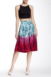 French Connection Printed A Line Skirt Multi