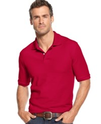 Club Room Short Sleeve Solid Estate Performance Sun Protection Polo Cherry Pink