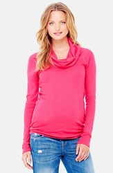 Women's Ingrid And Isabel Cowl Neck Maternity Tee Berry
