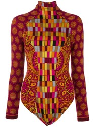 Christian Lacroix Vintage Intarsia Knit Patterned Body