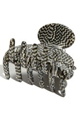 France Luxe 'Small Couture' Jaw Clip Metallic Opera Silver