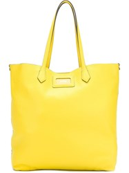 Hogan Textured Tote Bag Yellow And Orange