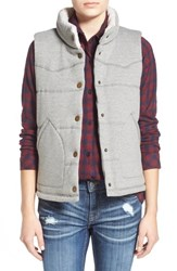 Junior Women's Thread And Supply 'Roanah' Quilted Knit Vest Heather Grey