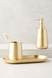 Anthropologie Gleaming Brass Bath Collection Bronze