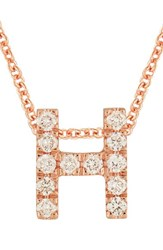 Bony Levy Women's Pave Diamond Initial Pendant Necklace Nordstrom Exclusive Rose Gold H