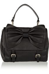 Red Valentino Bow Embellished Leather Tote Black