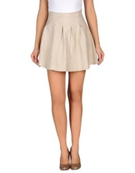 .. Merci Merci Knee Length Skirts Beige