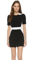 Thierry Mugler Short Sleeve Romper Black White