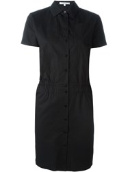 Carven Fitted Shirt Dress Black