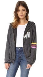 Wildfox Couture Nah Sports Zip Up Clean Black