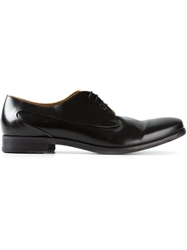 Pantanetti Curved Panel Derby Shoes Black