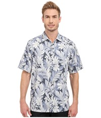 Tommy Bahama Garden Of Hope And Courage Camp Shirt Black Men's Clothing