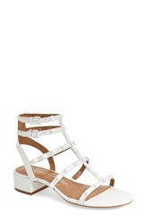 Women's Arturo Chiang 'Jain' Studded Patent Gladiator Sandal Alabaster Patent Leather