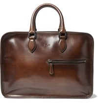 Berluti Formula 1001 Leather Holdall Brown