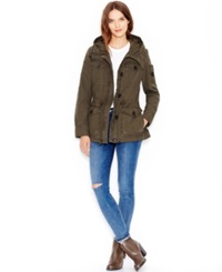 Levi's Hooded Military Jacket Army Green