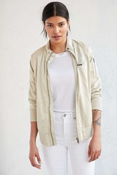 Members Only Satin Bomber Jacket Cream