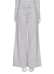 J.Crew Collection Ultra Wide Leg Pant In Glen Plaid Italian Cashmere