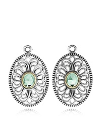 Pandora Design Pandora Earring Charms Sterling Silver And 14K Gold Vintage Allure Silver Gold Green