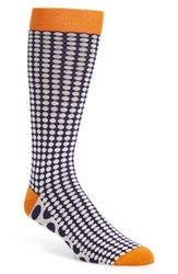 Men's Ted Baker London 'Contrast Spot' Socks Blue Navy