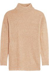 American Vintage Mercede Open Knit Turtleneck Sweater Nude