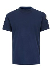 Topman Shade Navy Turtle Neck T Shirt Blue