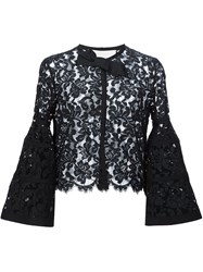 Carolina Herrera Grosgrain Detail Jacket Black