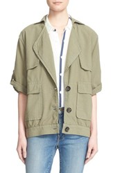 Women's Frame 'Le Oversized' Crop Sleeve Utility Jacket