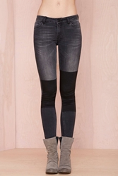 Nasty Gal Just Female Play On Jeans Black