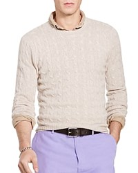 Polo Ralph Lauren Cable Knit Cashmere Sweater Oatmeal Ra