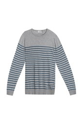 John Smedley Striped Pullover Silver