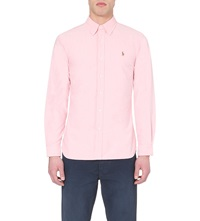 Ralph Lauren Embroidered Logo Slim Fit Single Cuff Shirt Carmel Pink