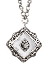 Lois Hill Sterling Silver Mother Of Pearl Pendant Necklace Metallic
