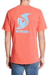 Men's Southern Tide 'Batten Down' Graphic T Shirt Nautical Orange