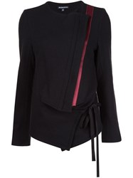 Ann Demeulemeester Fitted Tie Jacket Black