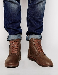 Firetrap Leather Boots Brown