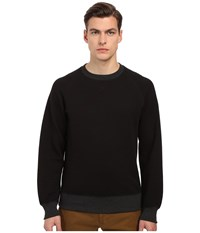 Billy Reid Quilted Crew Black Men's Sweatshirt