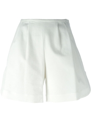 Jil Sander Navy Flared Shorts White