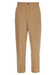 Damir Doma Plectro Linen Trousers Beige
