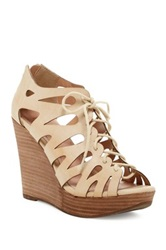 Restricted Max Out Lace Up Wedge Beige