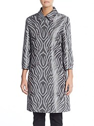 Cinzia Rocca Double Breasted Trenchcoat Gray