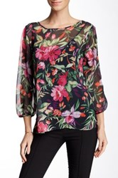 Sweet Pea Printed Bow Blouse Multi