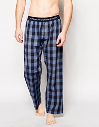 French Connection Lounge Pants In Bold Check Blue