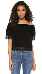 Maven West Stella Off Shoulder Blouse Black