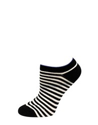Kate Spade One Pack Striped No Show Socks Black