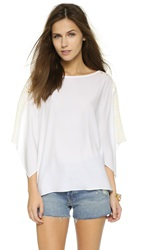 Ramy Brook Mira Blouse Summer White Pearl