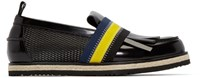 Msgm Black Leather Rope Boat Shoes