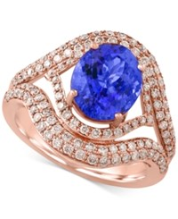 Effy Collection Tanzanite Royale By Effy Tanzanite 2 5 8 Ct. T.W. And Diamond 9 10 Ct. T.W. Ring In 14K Rose Gold