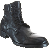 Harris Padded Collar Work Boot Black